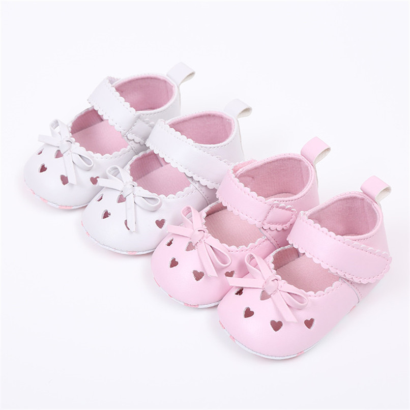 FashionNewborn Infant Baby Girls Crib Shoes Soft Sole Anti-slip Sneakers Bowknot Shoes NDA84L16 (3)