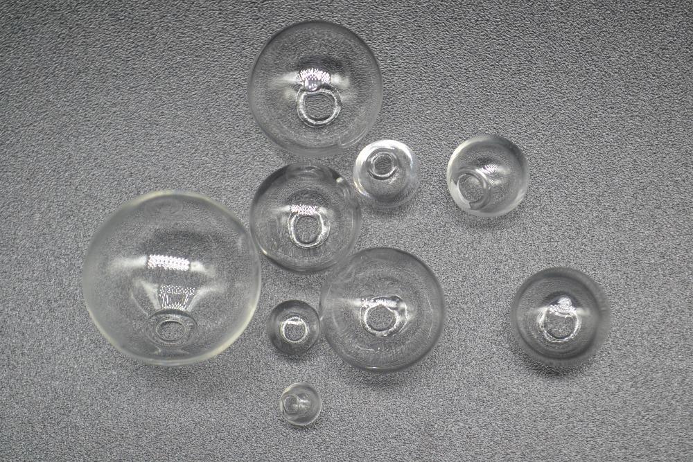 2Pcs Round Glass Pendant Globe Charm Bottle Vial DIY Craft Silver Flower Cap