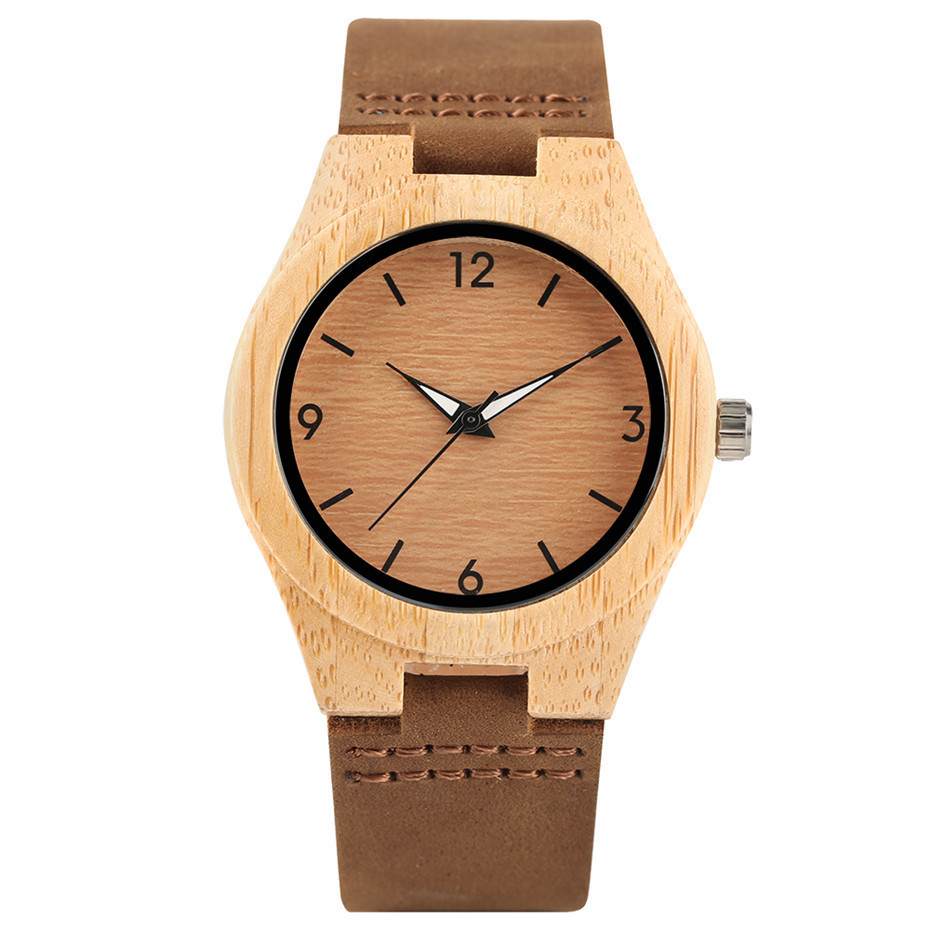 simple design fashion bamboo woood women watches01