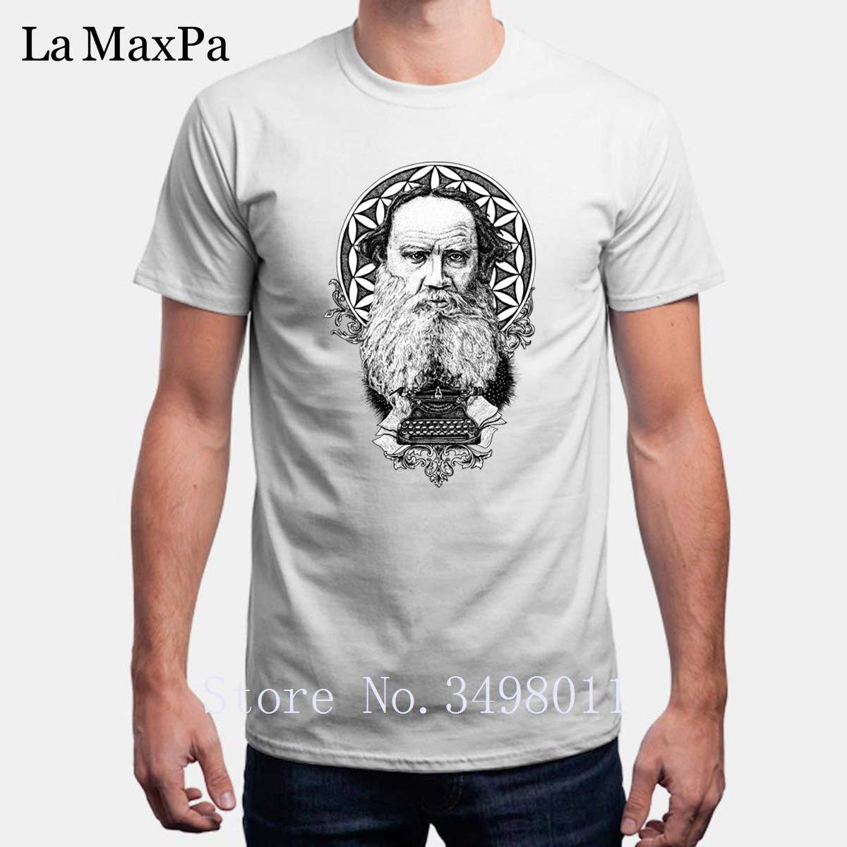New Arrival Funny T Shirt Tolstoy Tshirt Clothes O-Neck Cool Short Sleeved T-Shirt Man S-3xl Hip Hop Impresion Camisetas