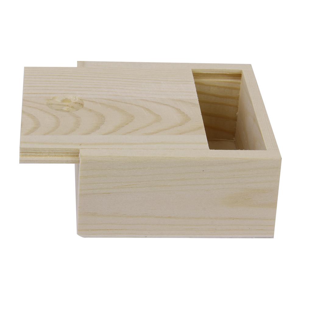 Phenovo 2pcs Jewelry Bracelet Soap Flower Plants Wooden Storage Box Case Jewelry Packaging & Display 8.4 x 8.4 x 4.1cm