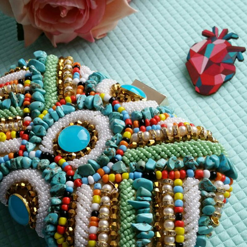 Vintage Colorful Beaded Stones bags (9)