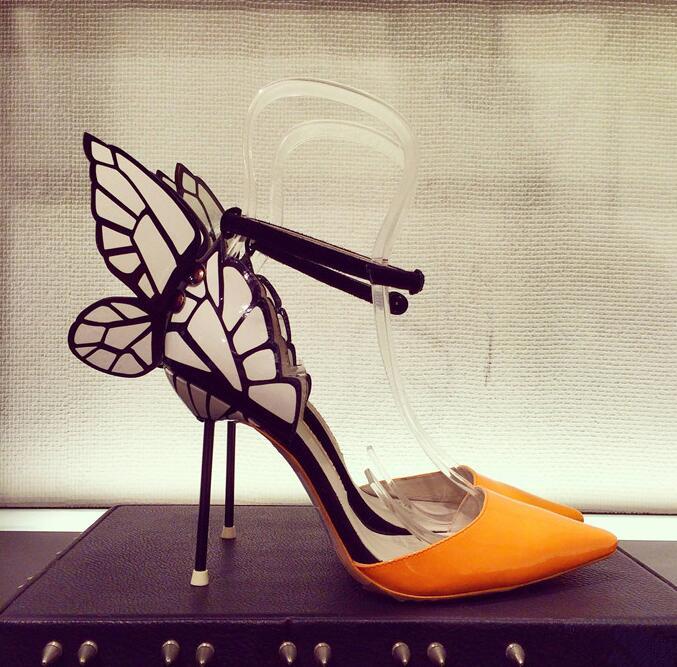Hot Sale-Sophia Webster celebrity stage sandals angel wings high heels ankle strap stiletto heels butterfly sandals summer heels women