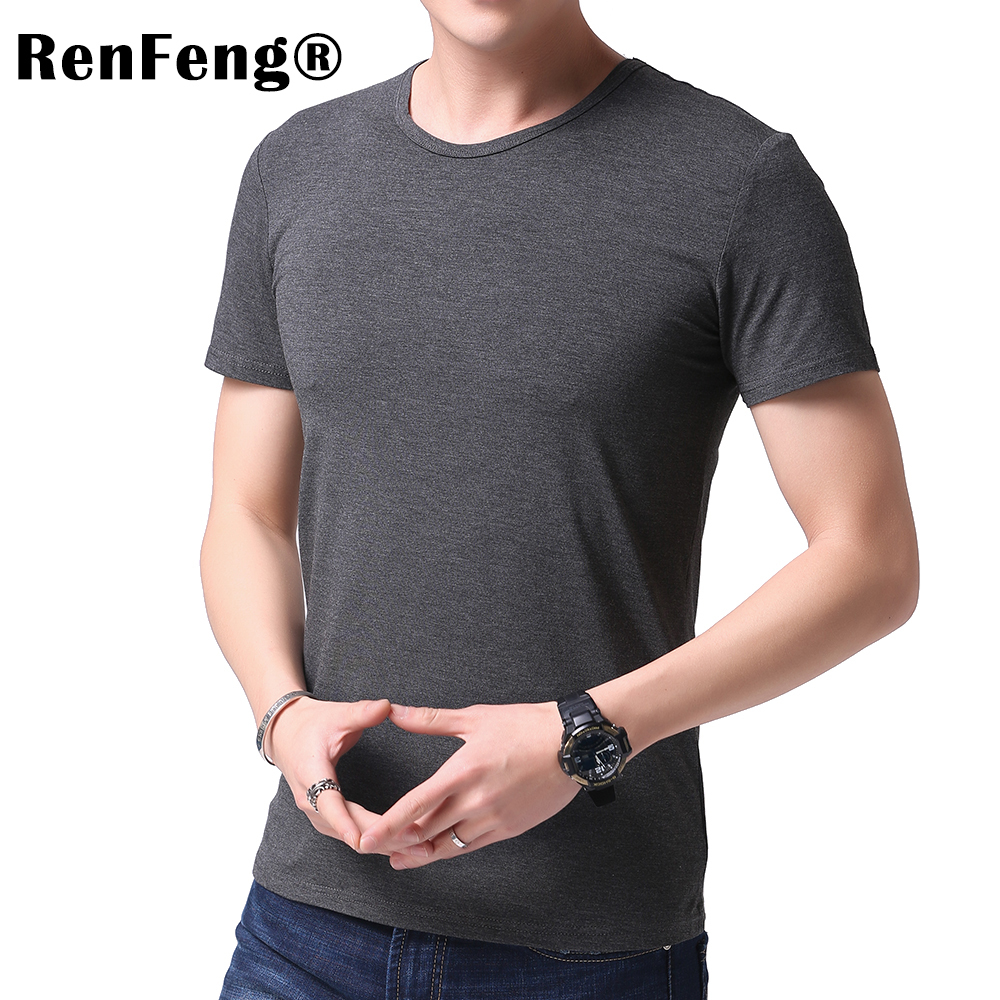 Fashion 2018 New Cool T-shirt Men Blank Tshirt Under shirt Tee Shirt Homme Short Sleeve Summer Tops Tees T shirt Male M-3XL (1)