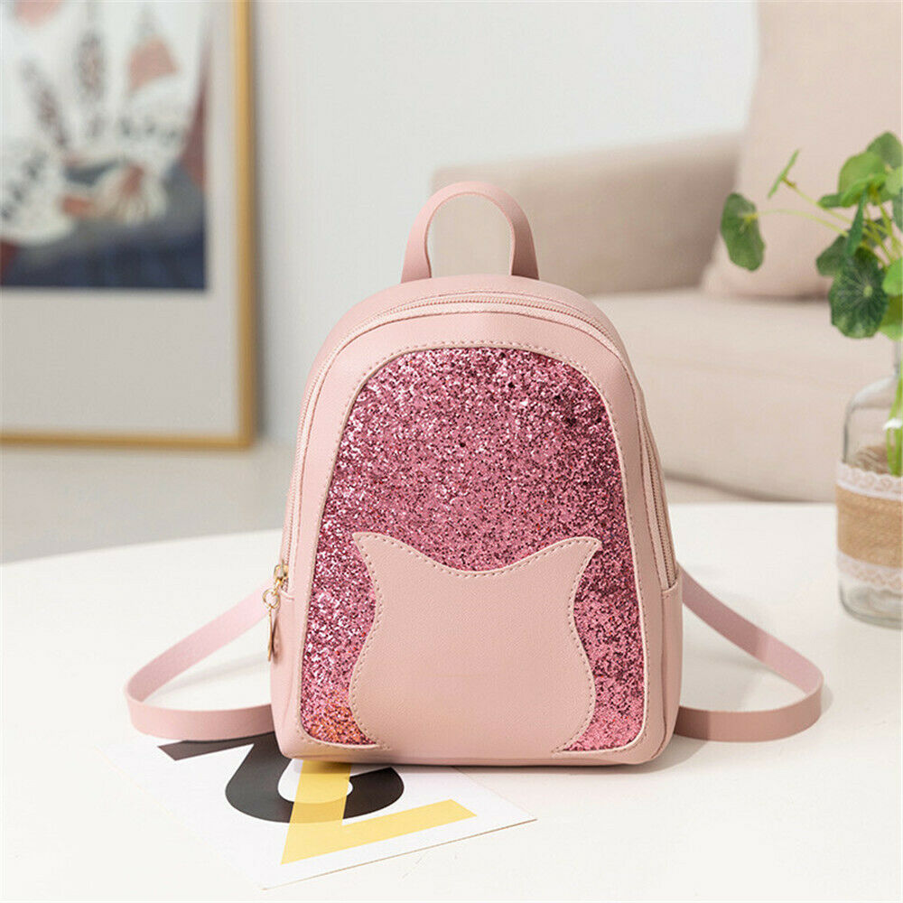 Ladies New Small Faux Leather Casual Backpack Rucksack