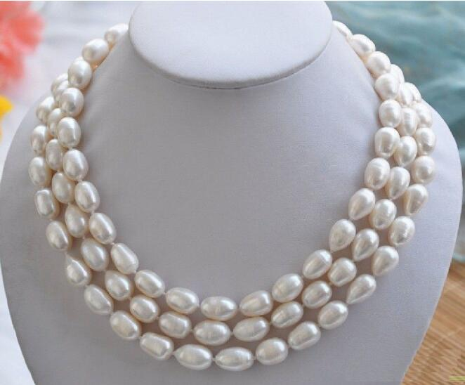 "Fashion naturel véritable AAA South Sea Blanc Perle Baroque Collier 18/"""