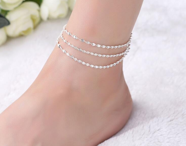 Multi-layer Coin Disc Anklet Charm Foot Chain Women Fashion Anklet Jewelry CB