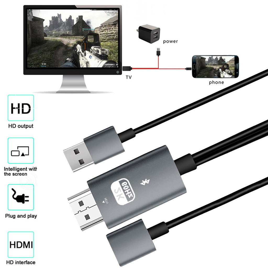 Universal Usb To Hdmi 4k Cable Hdtv Tv Digital Av Adapter For Mobile Phones Tablets Plug And Play Y20