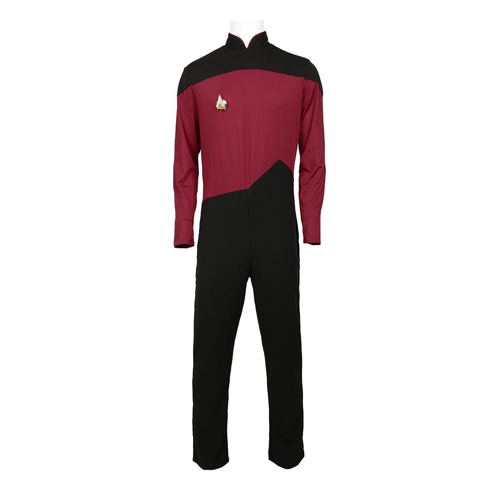 Star Trek II Klingons officier Sweat à Capuche Fermeture Éclair Polaire Sweat-shirt Cosplay Costume