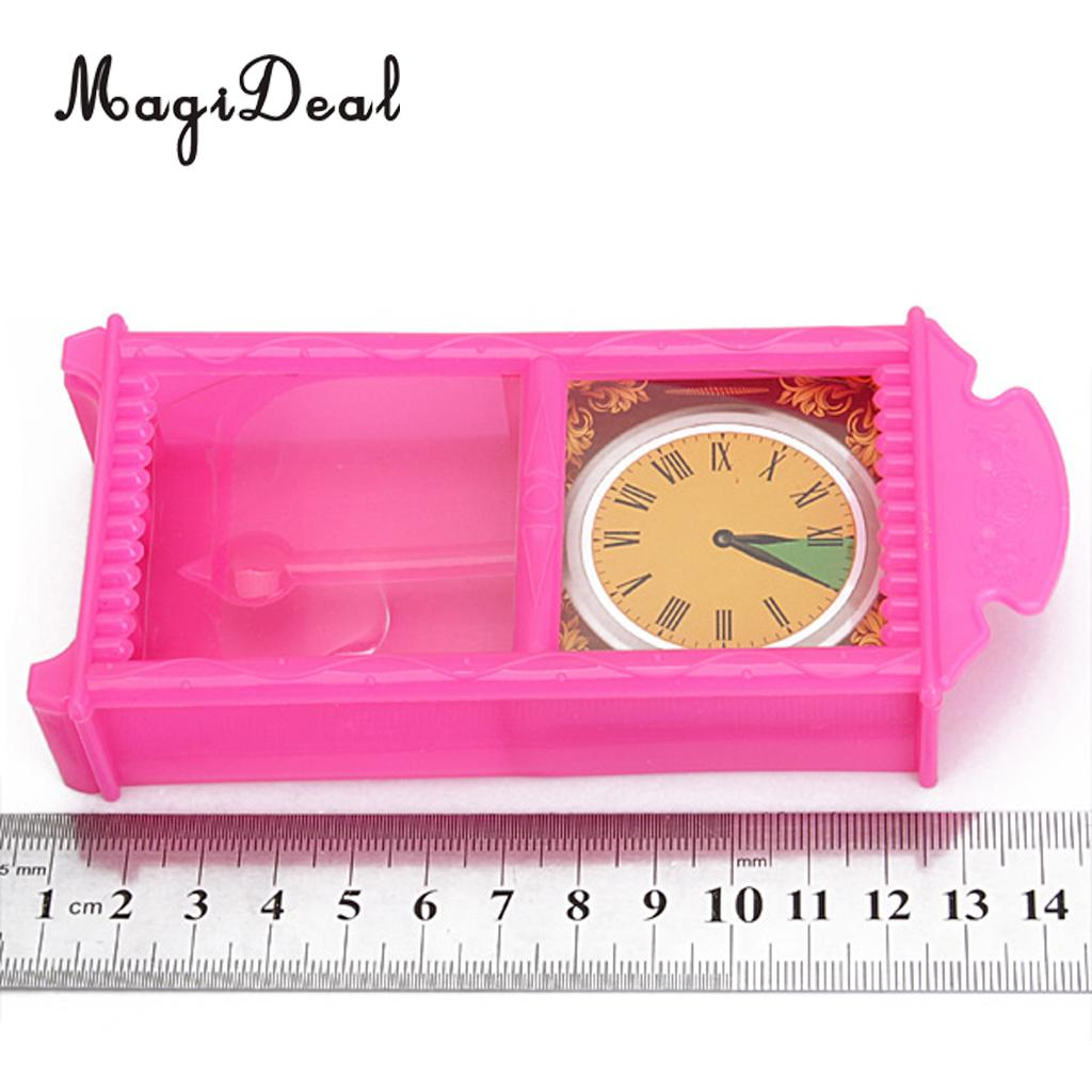 Dollhouse Plastic Living Room Couch Televison Clock Set for Barbie Dolls Accessory Kids Pretend Play Toys