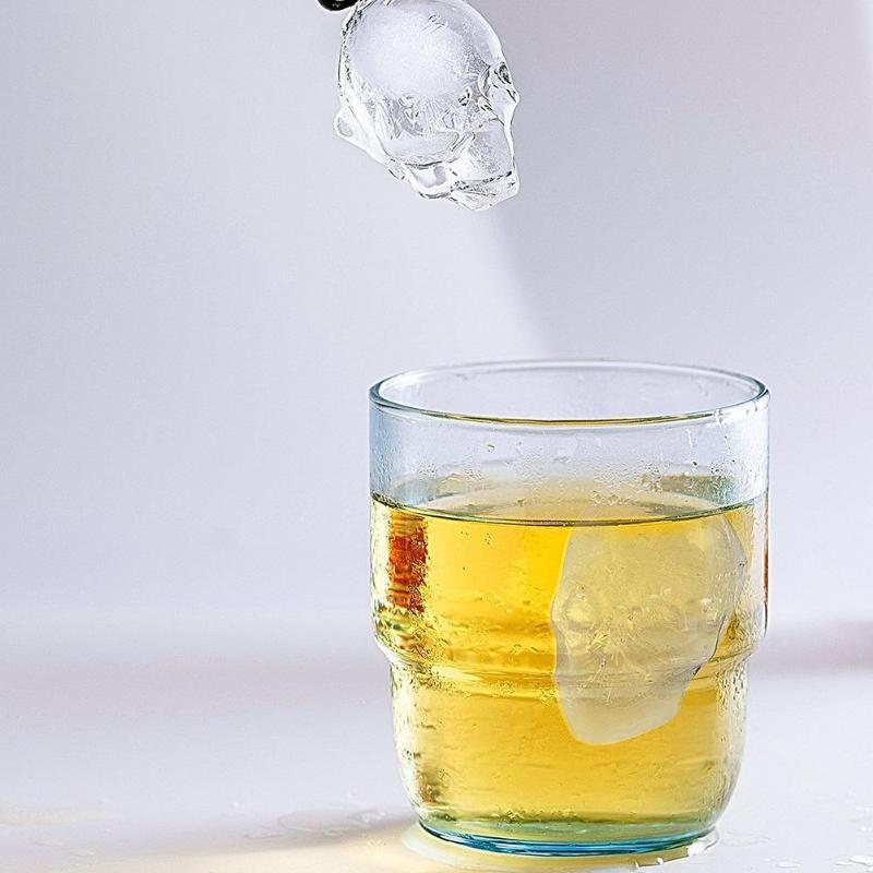 Silicone 3d Skull Ice Mold Tray Chocolate Cake Candy Ice Mould For Whiskey Wine Cool Bar Party Ice Cream Maker