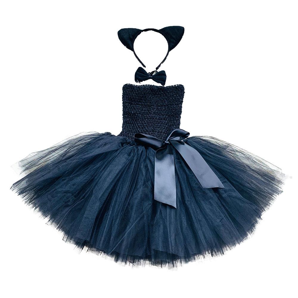 Tartan Tutu Skirt w// Black Lace Trim /& Net Girls Kids Fancy Dress Party Costume