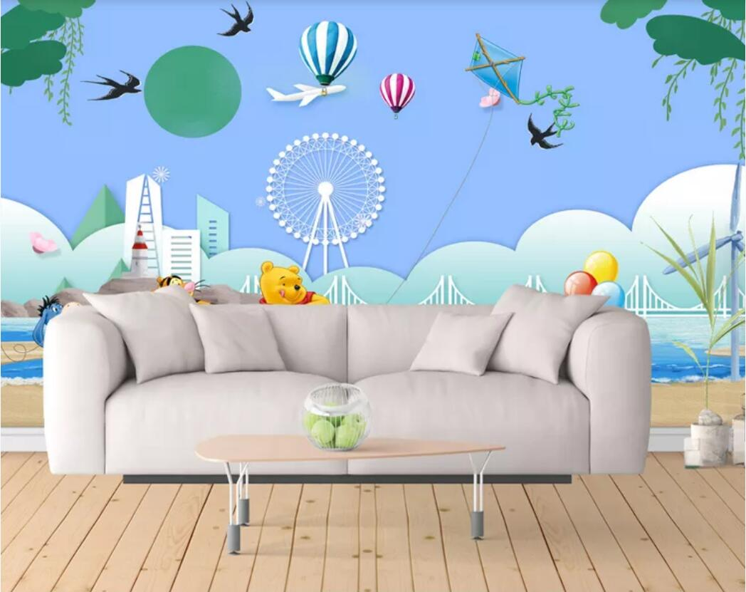2pcs Fashion Home Wall Decor Adhesive Living Room Background Wallpaper Removable
