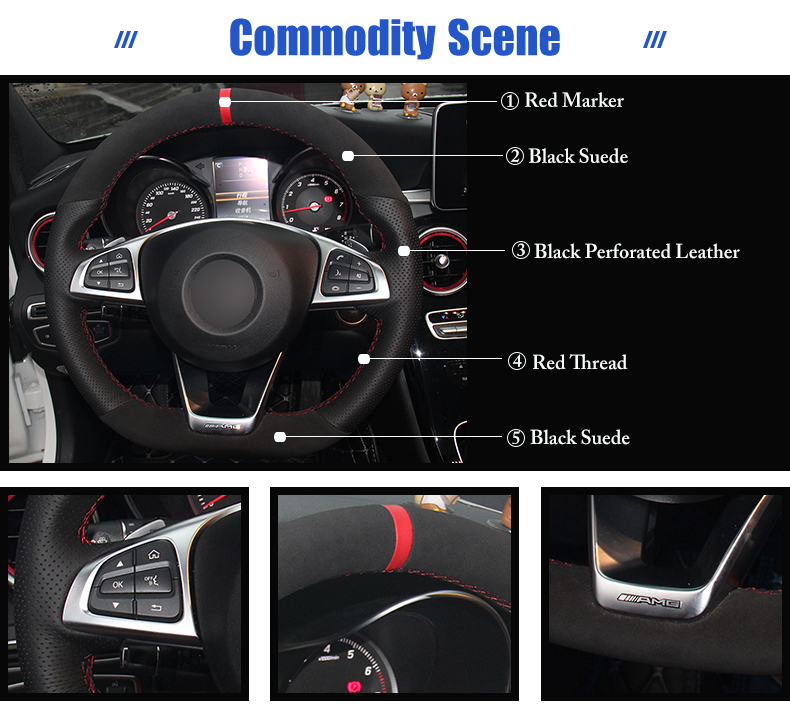 for Mercedes Benz C200 steering wheel covers