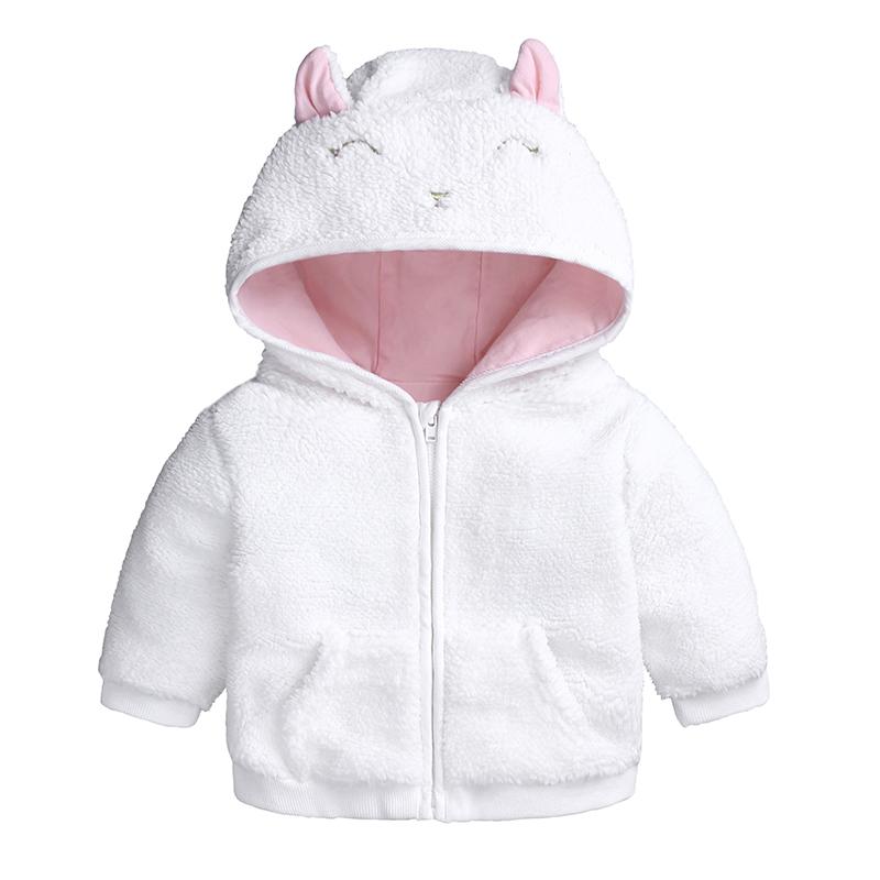 Kids Tales Autumn Winter toddler baby clothes cartoon bear Fleece Hooded jacketCoat for 3-18m newborn baby boy girl Outerwear