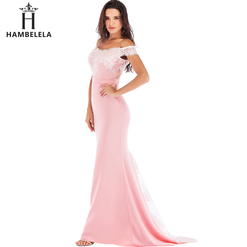 HAMBELELA Vestido De Festa Pink Black Red Mermaid Dress Lace Top Bodice Slim Long Formal Party Dress Charming Wedding Party Gown (12)