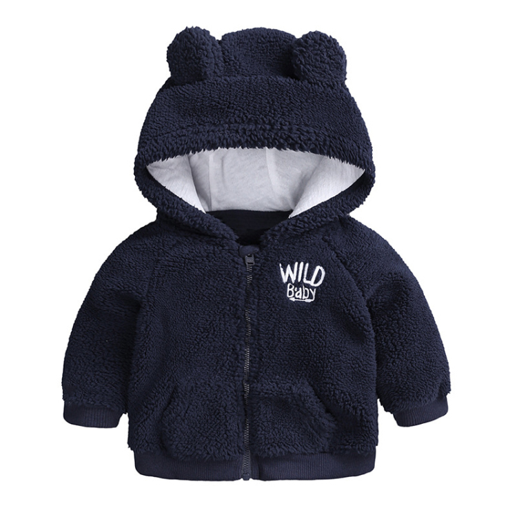 Black baby hooded cartoon cotton outfits long sleeve (1)