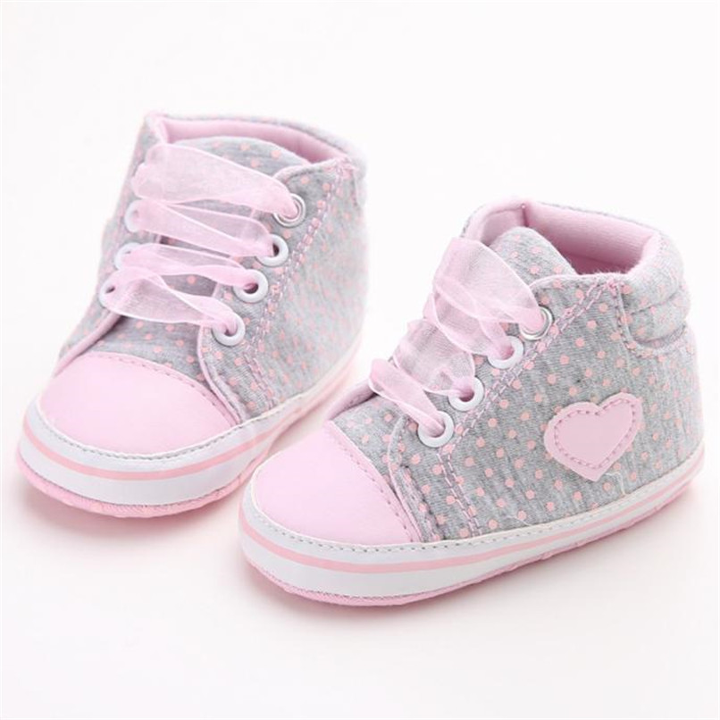 Baby Shoes For Girls Toddler Baby Girl Canvas Heart shape Sneaker Anti-slip Soft Sole Shoes Baby First Walker Shoes M8Y10 (9)