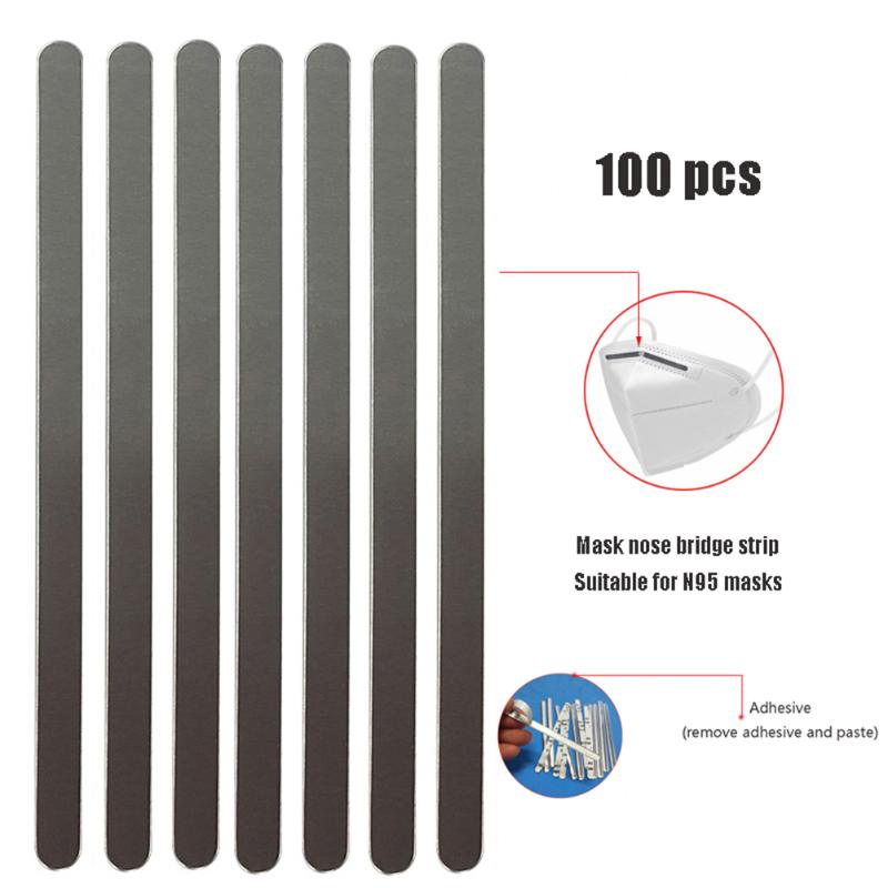 Adjustable Eco-Friendly Material DIY Fixed Band Nose Bridge Strips Metal Nose Bridge Strip for Facial Shield Cover Making Supplies 100 PCS Nose Bridge Wire