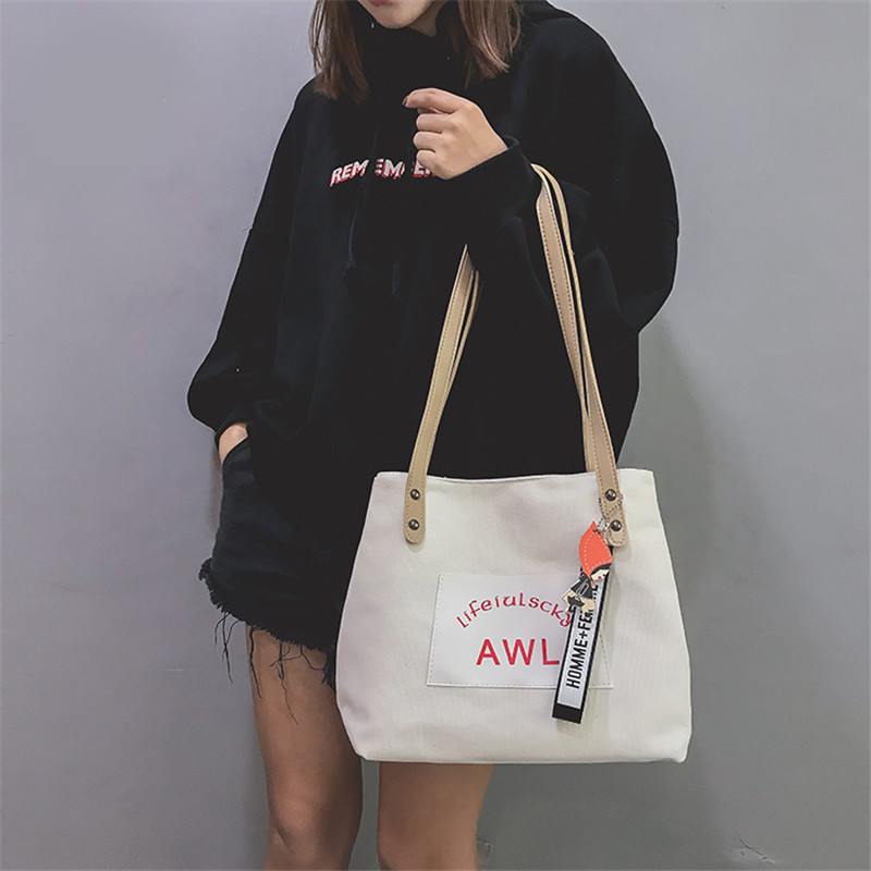 Women Canvas Handbag Fashion Designer Ladies Letter Crossbody Messenger Shoulder Bag Female Fashion Purse Sac A Main SS7382 (9)
