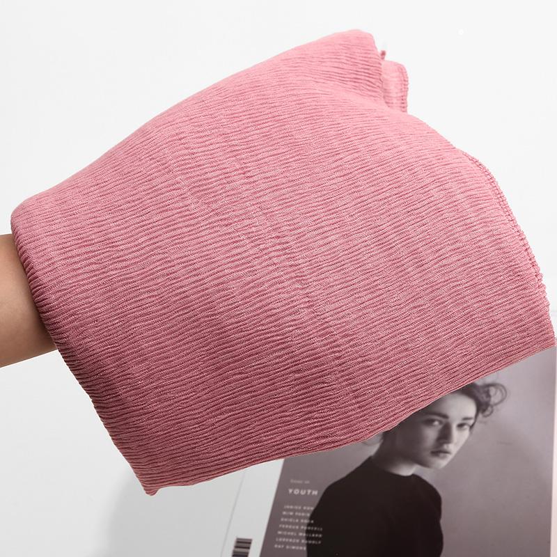 NUOVO stile Crinkle Plain Hijab SCIARPA MAXI burqa a Pieghe Scialle Ruffle