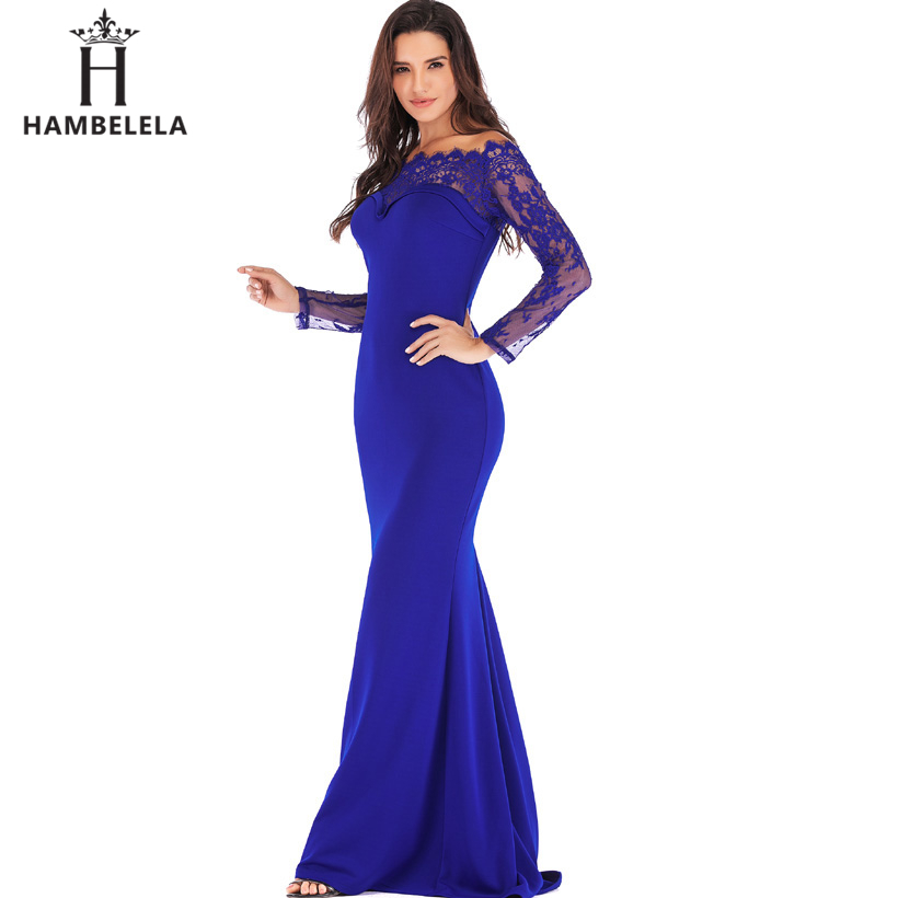 HAMBELELA Robe De Soiree Longue Long Sleeve Mermaid Evening Dresses Formal Evening Gowns China Vestido Longo Bodycon Lace Dress (17)