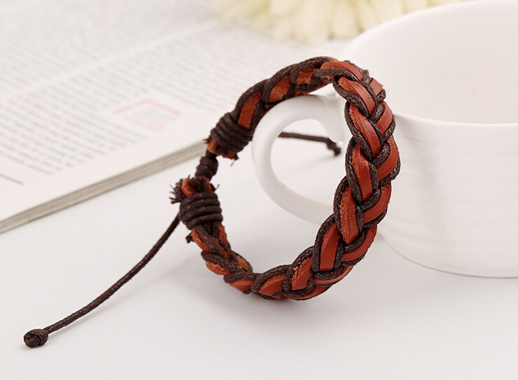 Men And Women Weave Hand Rope Yiwu Cowhide Genuine Leather Ornaments Literature Style Wen Chuang Yuan A Piece Of Generation