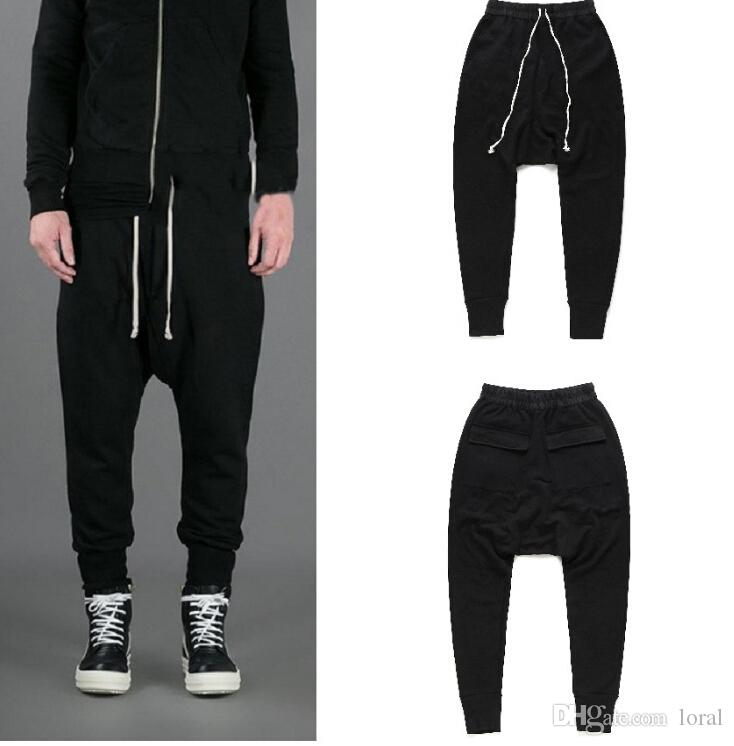 Mens Designer Pants Sweatpants RO Style Harem Pants Mens Black Casual Loose Long Trousers Spring Summer Sports Jogger Pants Cross-Pants