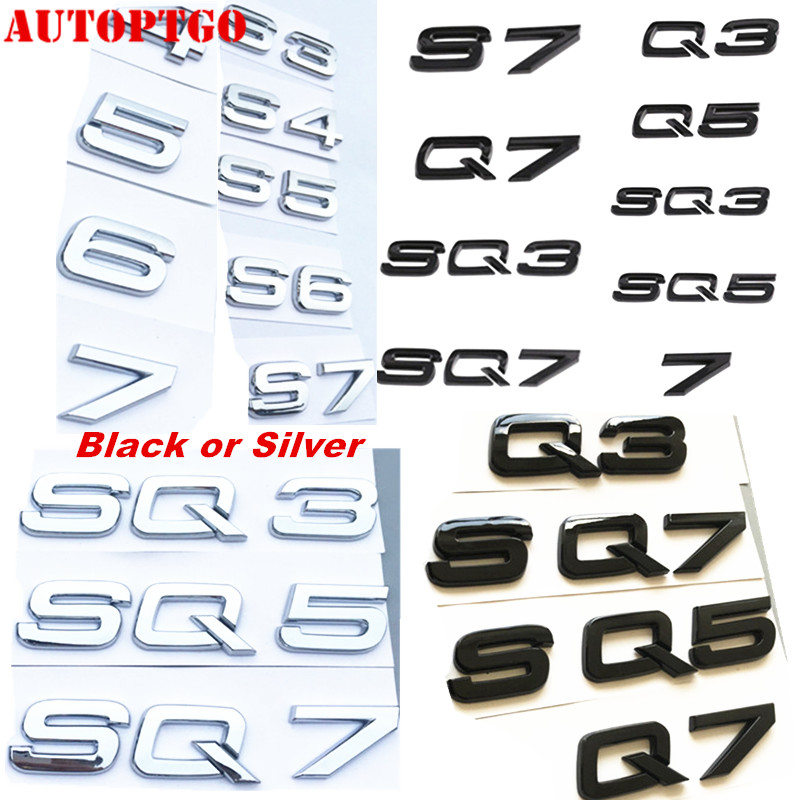Audi Logo RS5 metal Noir mat badge emblème pour A4 S4 RS4 Arrière Coffre Coffre
