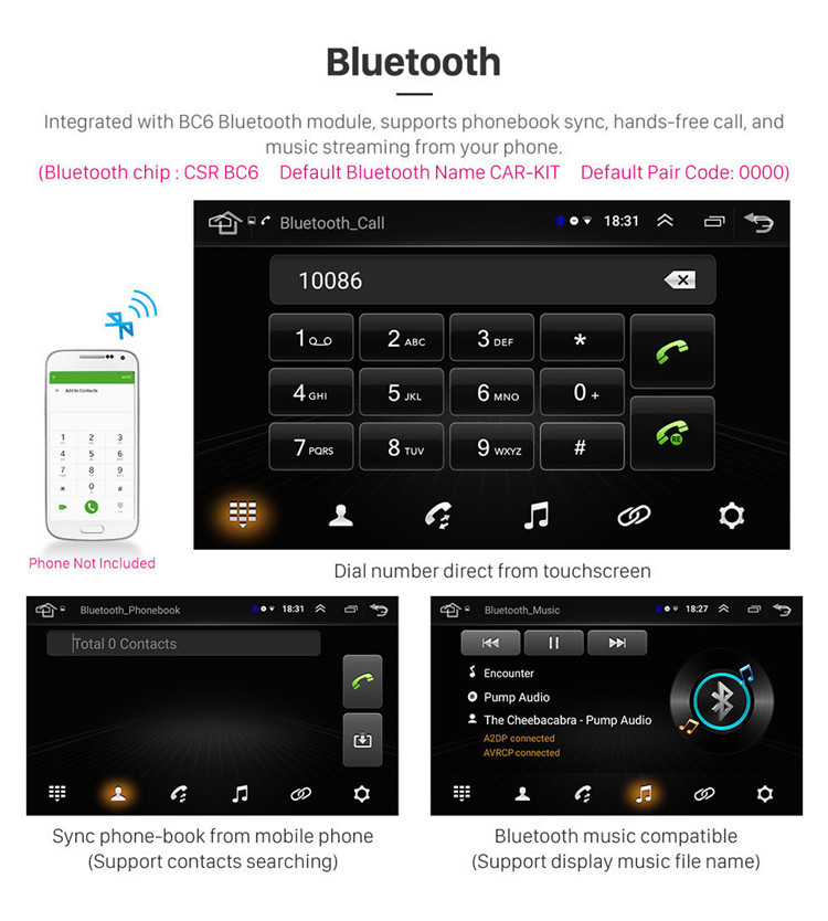 8 inch Android 8.1 Radio GPS Navigation system for 2007-2011 Toyota RAV4 with Bluetooth WIFI 1080P DVR support DVR OBD II