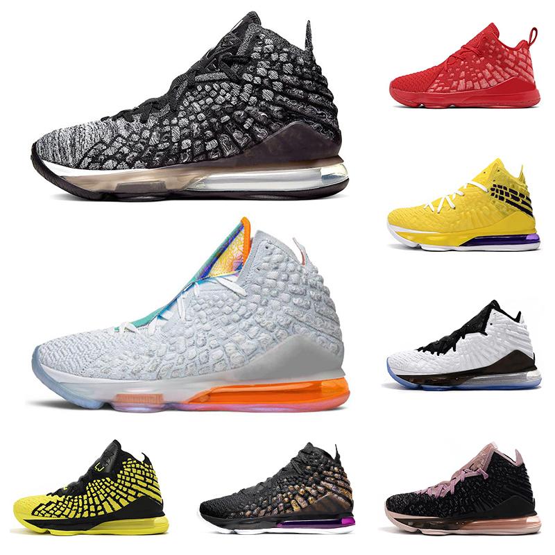 17 nouveaux lebron hommes chaussures de basket ball blanc noir Université avenir hommes bleu marine violet rouge formateur respirant chaussures de