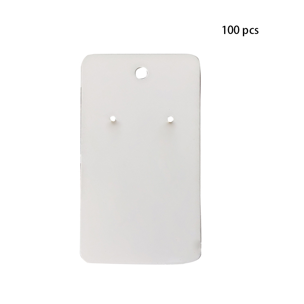 Lots 1000PC White Rectangle Jewelry Earring Display Cardboard Holder Hanging Tag