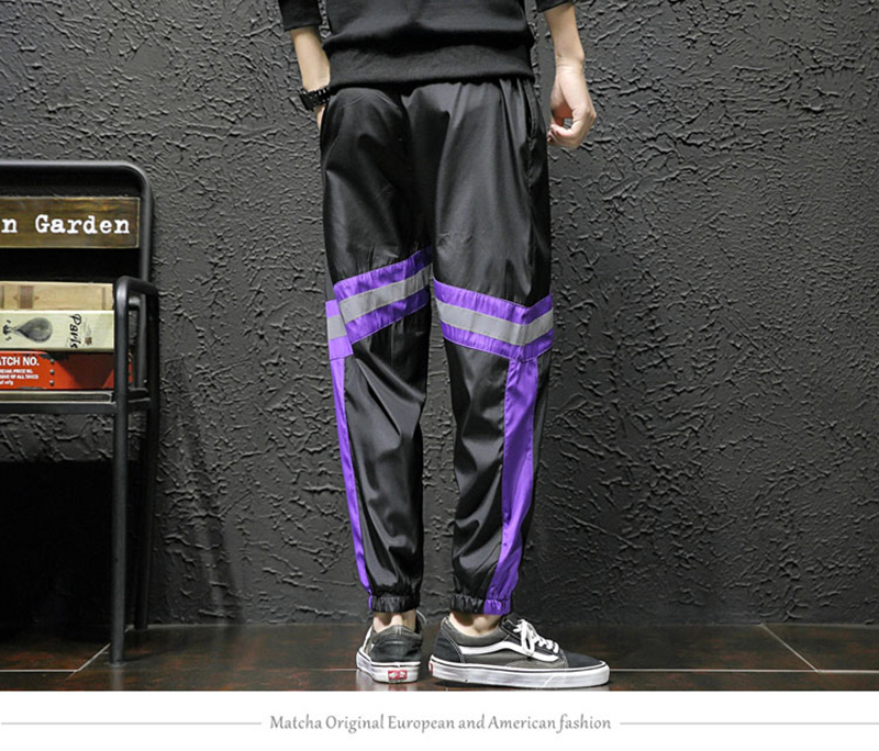 Loose Hip Hop Cargo Pants Men Camouflage Patchwork Harem Mens Trousers Streetwear (18)