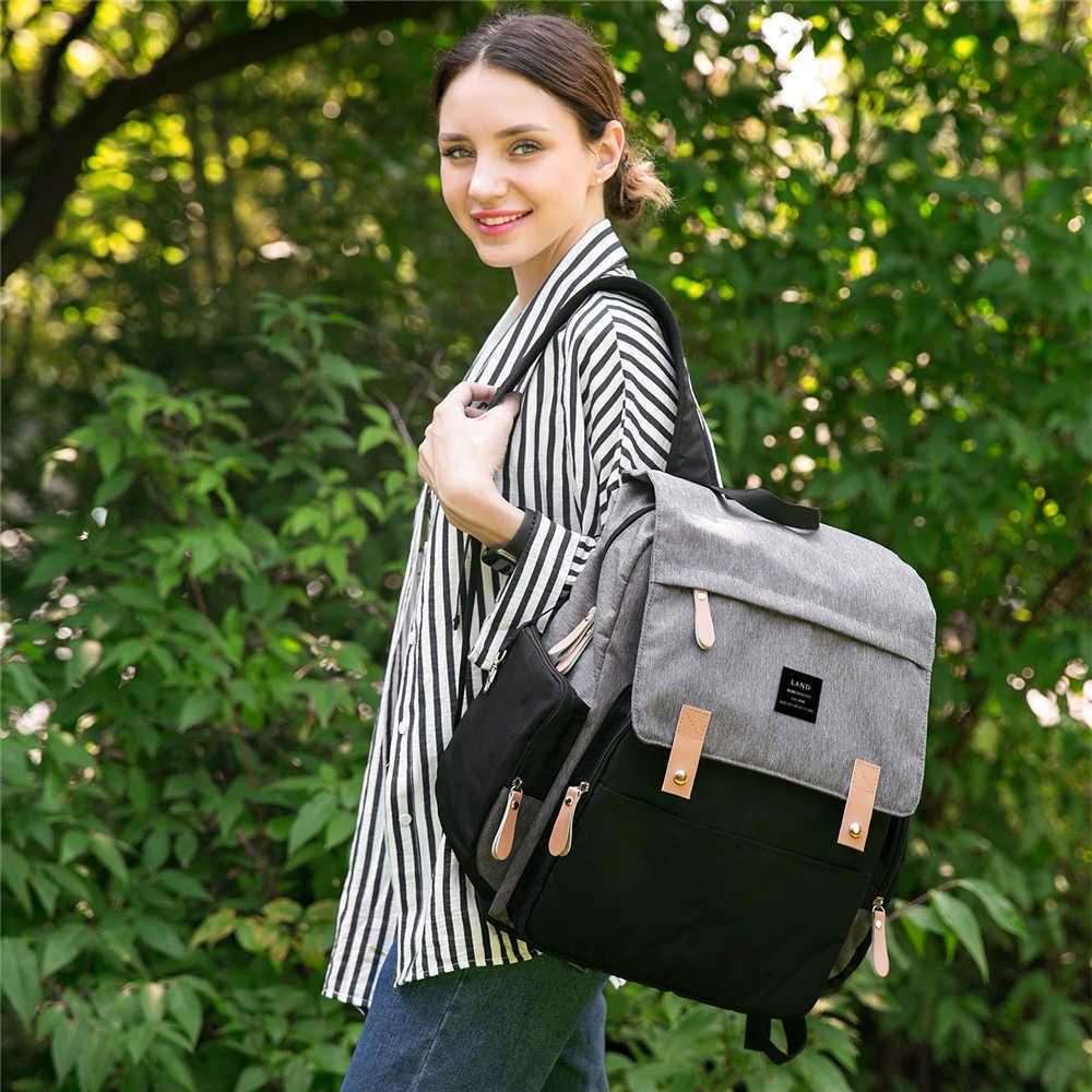 NEW-LAND-Diaper-Bag-Backpack-Maternity-Nursing-Stroller-Twins-Baby-Bag-Large-Capacity-Waterproof-Travel-Handbags