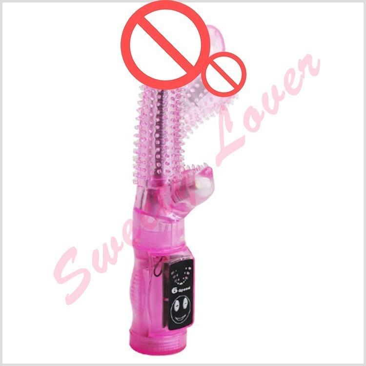 Cheap 8 inch G Spot Rabbit Vibrator Sex Toys for Women 6 Speed Clitoris Stimulator Dildo Vibrator Juguetes Eroticos Sex Products 17901