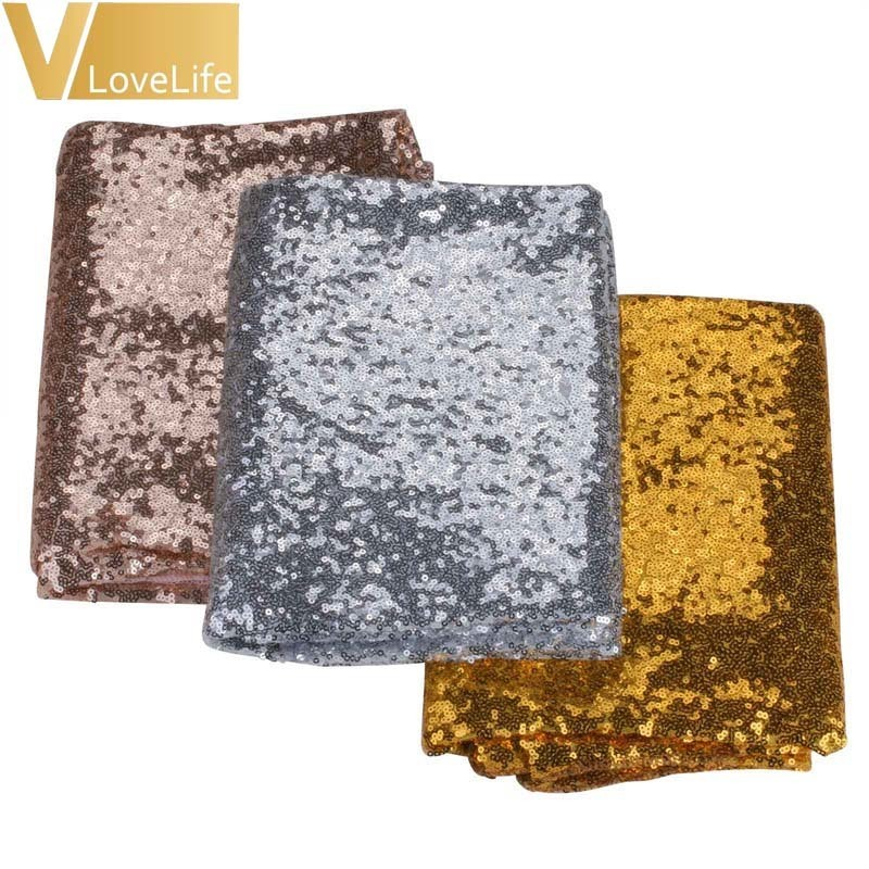100x150cm/120x180cm Sparkling Sequin Tablecloth Wedding Party Gold Silver Champagne Table Cloth Decoration Bling Table Cover Y19062103