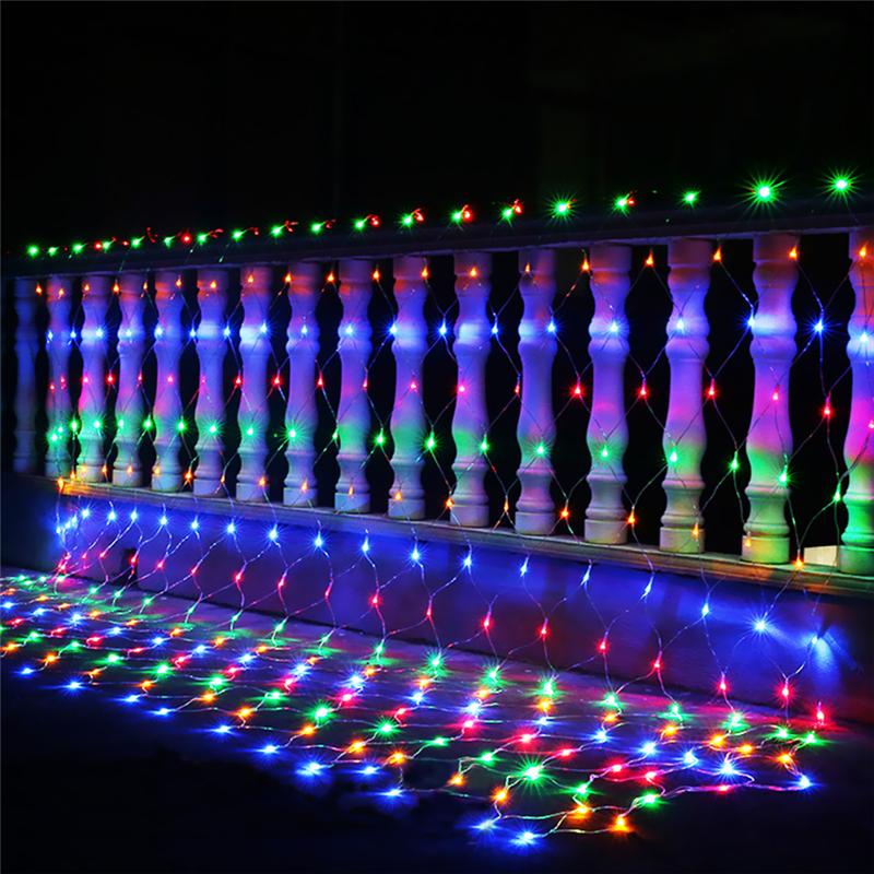 LEDs Weihnachten Beleuchtung Net Lichter Garten Deko Innen Außen Lichtervorhang