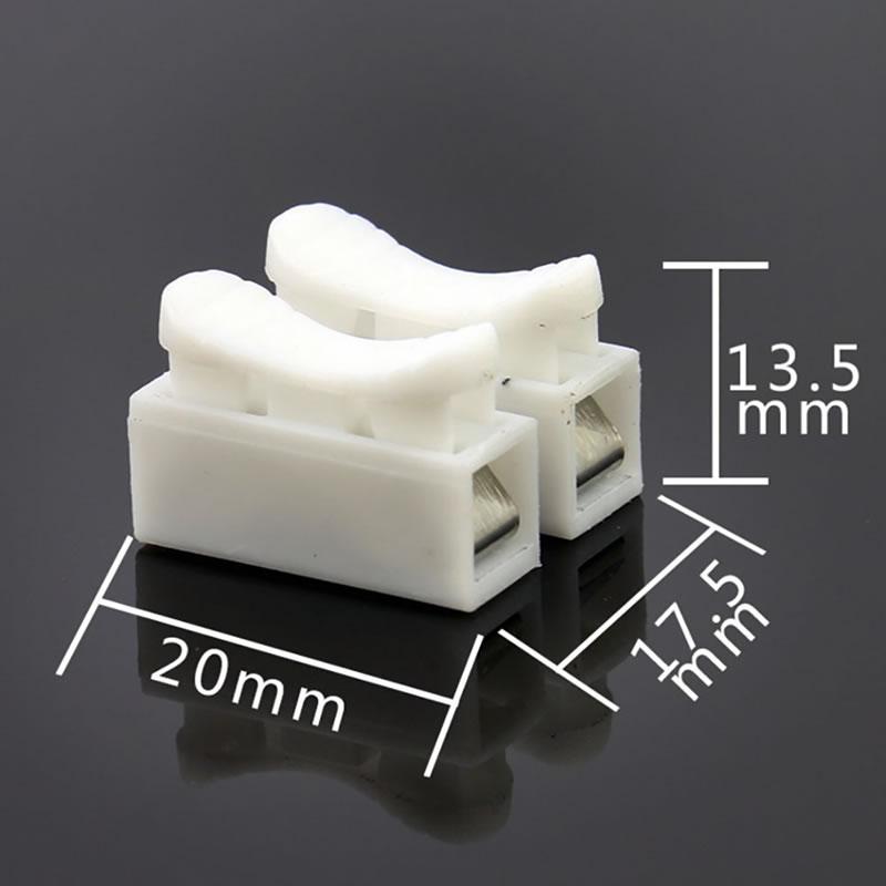 50Pcs CH3/Printemps Connecteurs de fils /électriques c/âble Clamp bornier connecteur LED strip light Fil de connexion 50/pcs CH2/