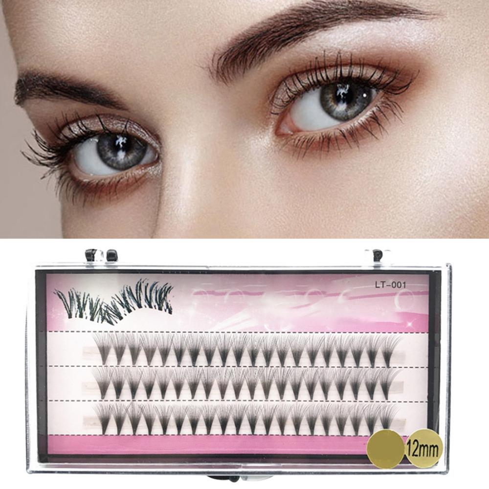 Natural Long Fake Eye Lashes 8/10/12mm 60 False Eyelashes Set Individual Cluster Big Eye Makeup Essential Tips