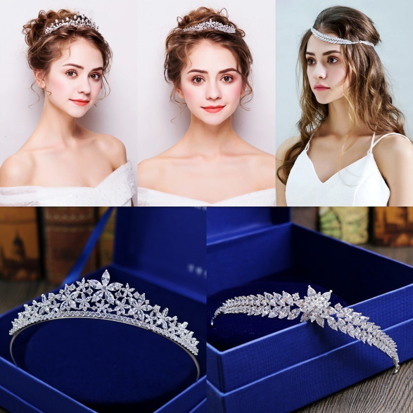 Stunning-Crystals-Rhinestones-Pearls-Copper-Cubic-Zircon-Wedding-Tiara-CZ-Bridal-Queen-Princess-Pageant-Party-Crown_conew1