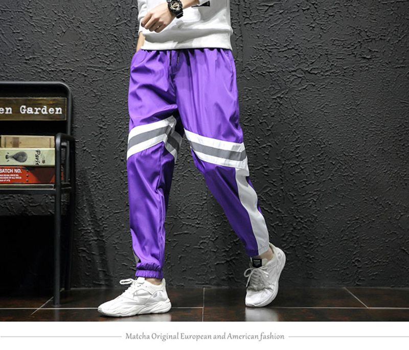 Loose Hip Hop Cargo Pants Men Camouflage Patchwork Harem Mens Trousers Streetwear (11)