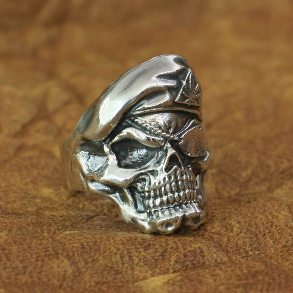 Ring For Men Skull Pirate Jack Sparrow Viking Metal Jewelry Vintage Punk Biker