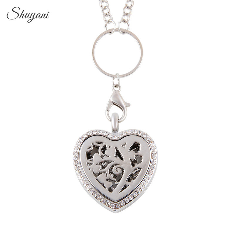 10PCS-Fashion-4Colors-Tree-of-Life-Perfume-Diffuser-Magnetic-Heart-Locket-Necklace-Aromatherapy-Locket-Pendant-with