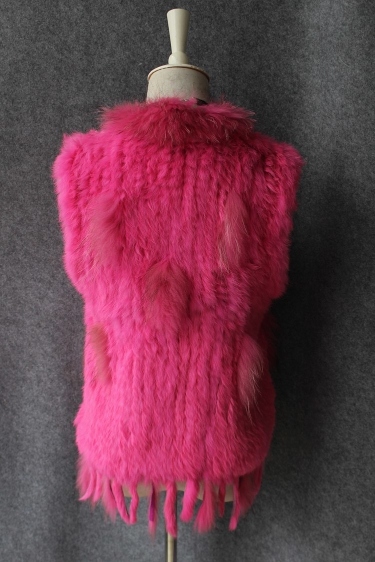 genuine real rabbit fur vest with raccoon fur collar (18)