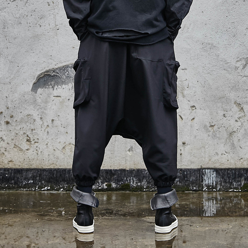 Modisch Herren Hip Hop Punk Hose Street Kleidung Jogginghose Gothic Schwarz M ~
