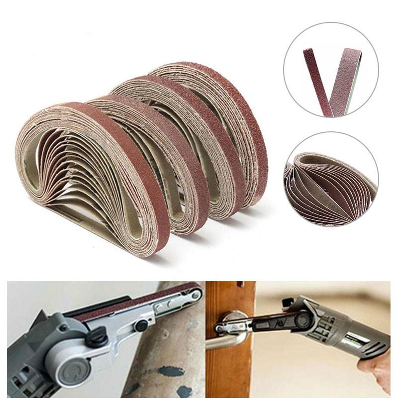 10x330mm Abrasive Polishing Sanding Belt for Belt Sander Grinder Drill Grinding for Dremel Accessories Grit 40/60/80/120