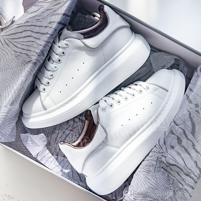 Plataforma 3 m Designer Refletivo Sapatos Casuais Das Mulheres Dos Homens Triplo Branco Preto Flats Party Shoes Esportes Tênis 36-44 Atacado Drop-grátis