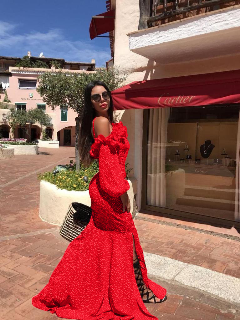 Wholesale New Suit-dress Sexy One Shoulder Vent Night Club Maxi Red Formal Cocktail Prom Dress Longuette Womens Dresses Deep V Bandage Skirt