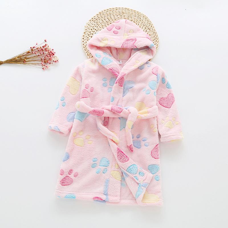 con Forro Polar Suave Pajamas con Capucha Albornoz de Manga Larga para ni/ñas Corto 140 cm