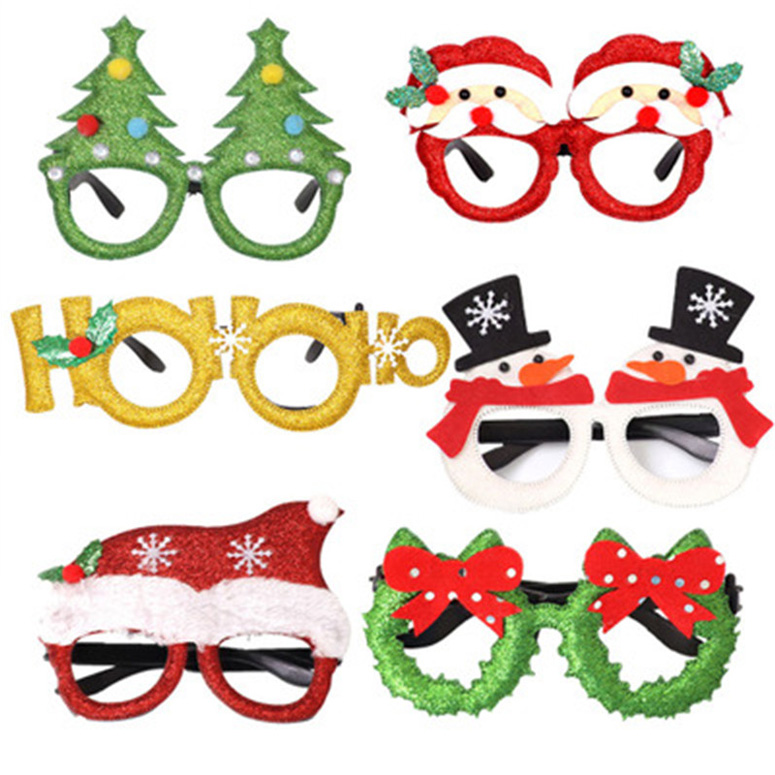 NEW Cosplay Children Unisex Glasses Xmas Black Frame Glasses No Lens